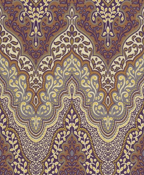 Barock Tapeten Gold Lila : – 404722 Rasch Tapeten Vlies Neu Glitzer Barock Lila Braun Gelb Gold