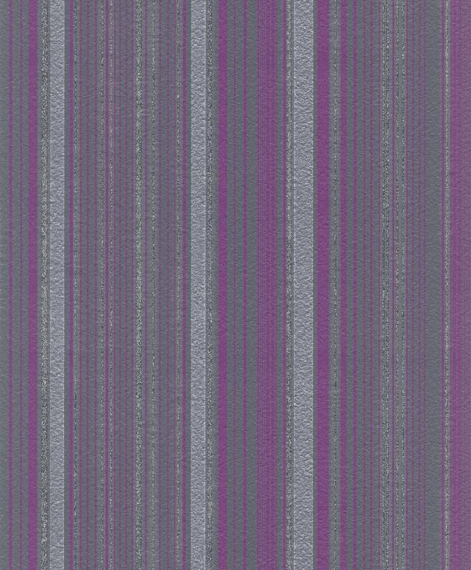 glamour 404845 rasch tapeten vlies neu glitzer streifen lila grau silber ebay. Black Bedroom Furniture Sets. Home Design Ideas