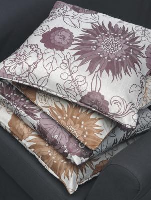 kissenbezug johanna 50x50 beere grau lila kissen blume floral deko neu ebay. Black Bedroom Furniture Sets. Home Design Ideas