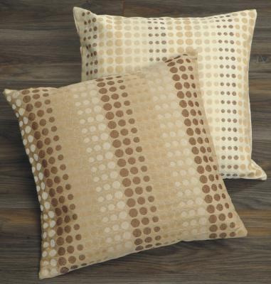 kissenh lle hanna 50x50 beige braun kreise punkte sofakissen deko neu ebay. Black Bedroom Furniture Sets. Home Design Ideas
