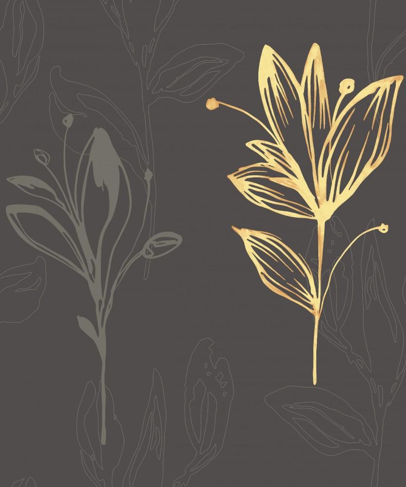 Sensation 227223 Tapete Vlies Floral Blumen Braun ...