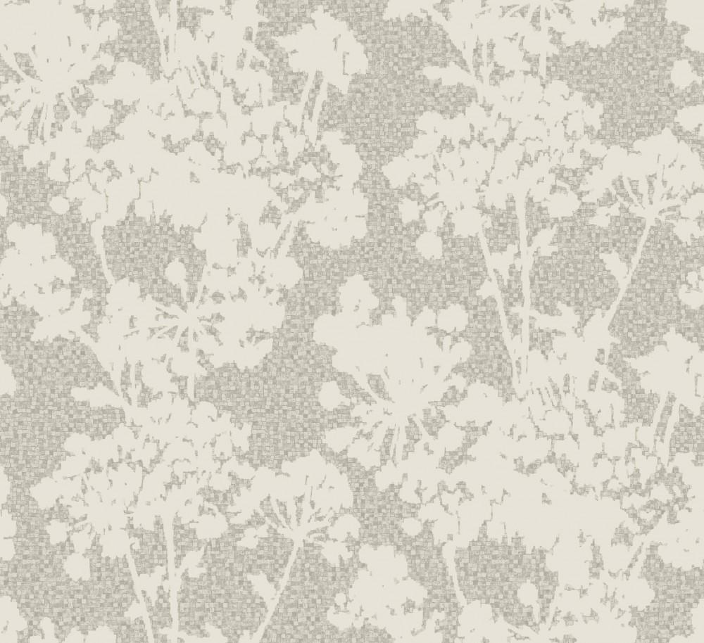 Pl 41411 tapete vlies floral blumen braun beige creme grau - Grau beige tapete ...