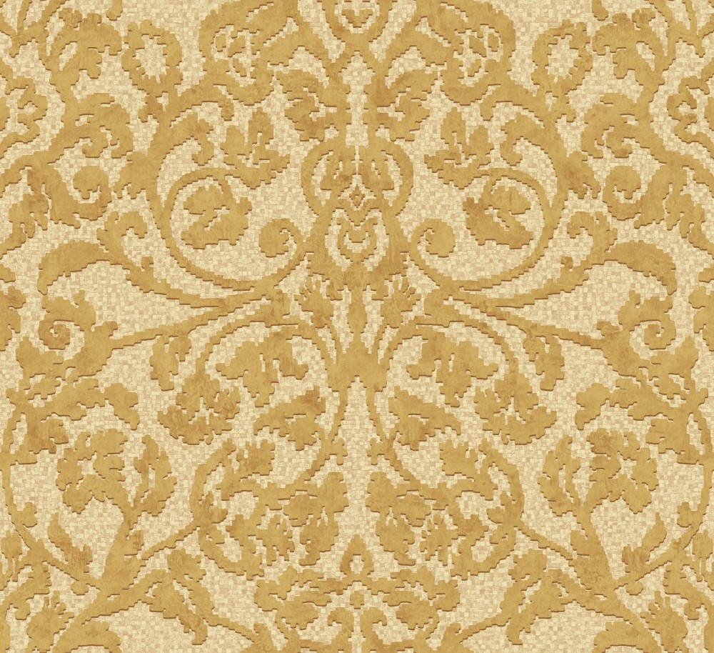 Palazzo pl 41508 tapete vlies ornamente beige gold braun for Tapete gold braun