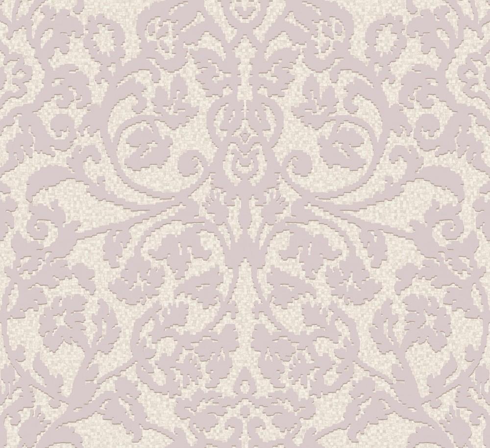 Palazzo pl 41598 grandeco tapete vlies neu ornamente for Muster tapete lila grau