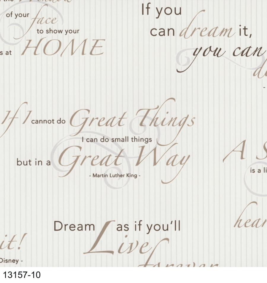 dieter bohlen 13157 10 p s vlies tapeten neu modern art schrift creme braun grau ebay. Black Bedroom Furniture Sets. Home Design Ideas