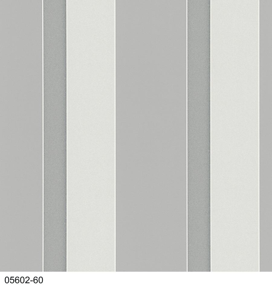 Young spirit 05602 60 tapeten papier streifen grau silber for Tapeten silber grau weiss