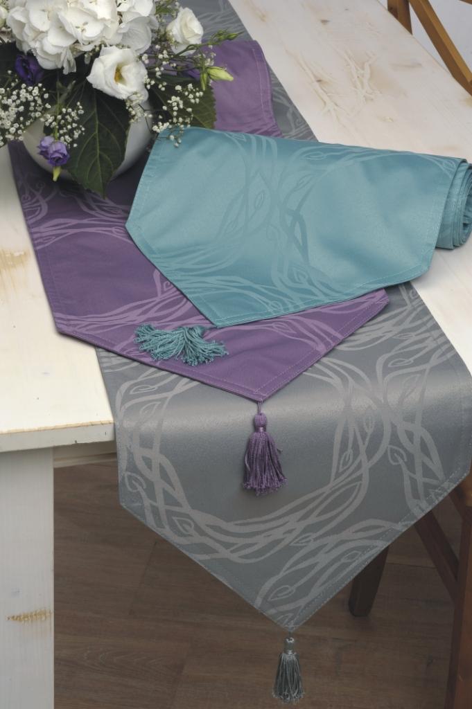 ... Angelina 33x180 grün türkis grau lila Modern Design Tischdecke Deko