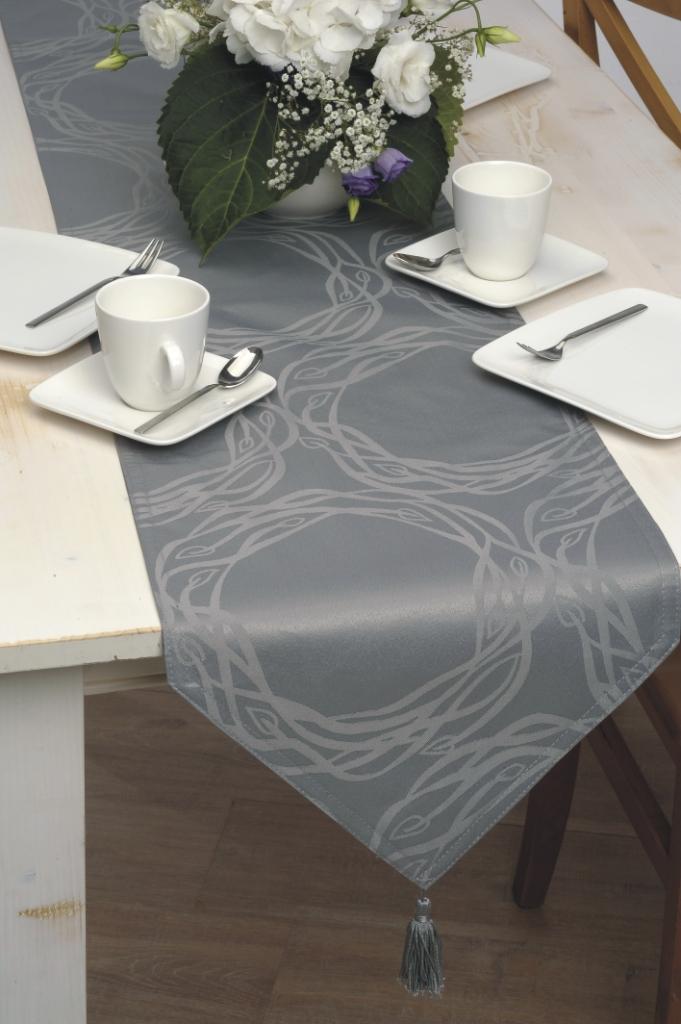 tischl ufer angelina 33x180 gr n t rkis grau lila modern design tischdecke deko ebay. Black Bedroom Furniture Sets. Home Design Ideas