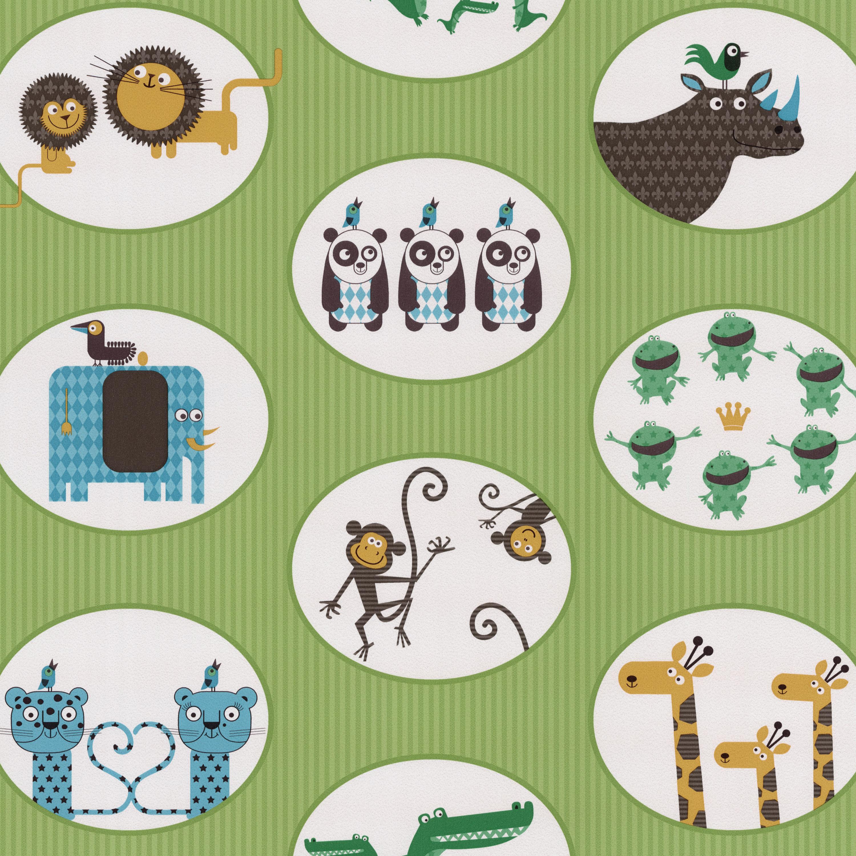 happy kids 05683 30 p s kinder jugend tapete tiere ebay. Black Bedroom Furniture Sets. Home Design Ideas