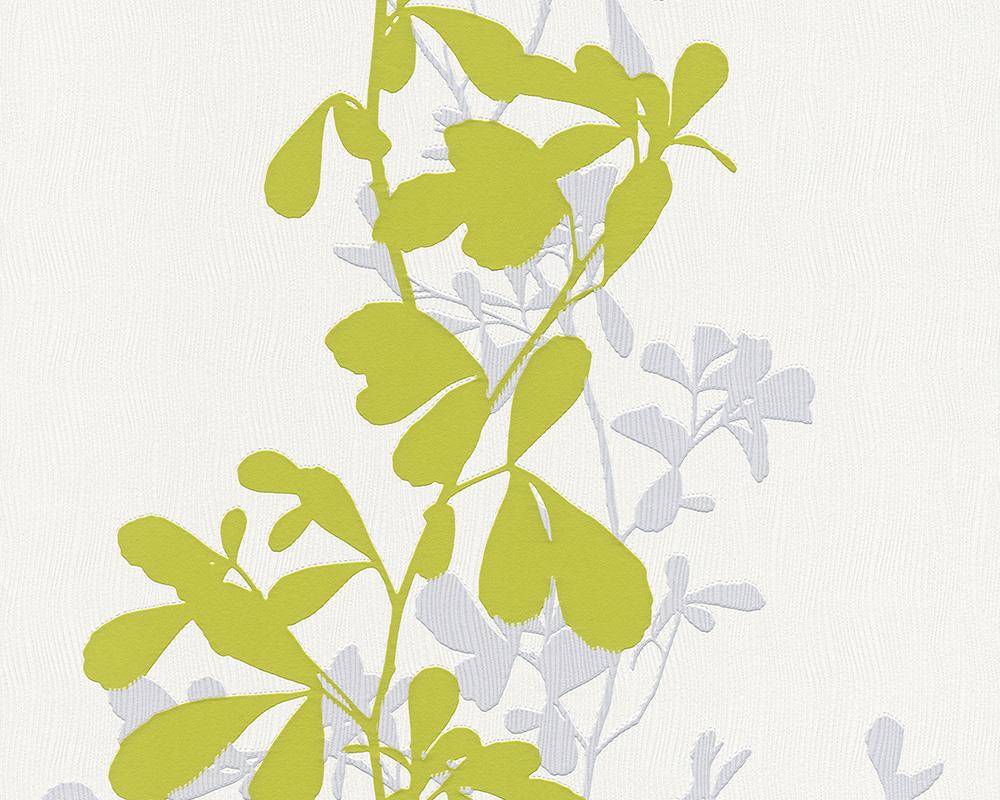 Muster Tapete Um Fenster Kleben : Sch?ner Wohnen 5 – 9467-13 Tapete Floral Blume grau gr?n wei? Vlies