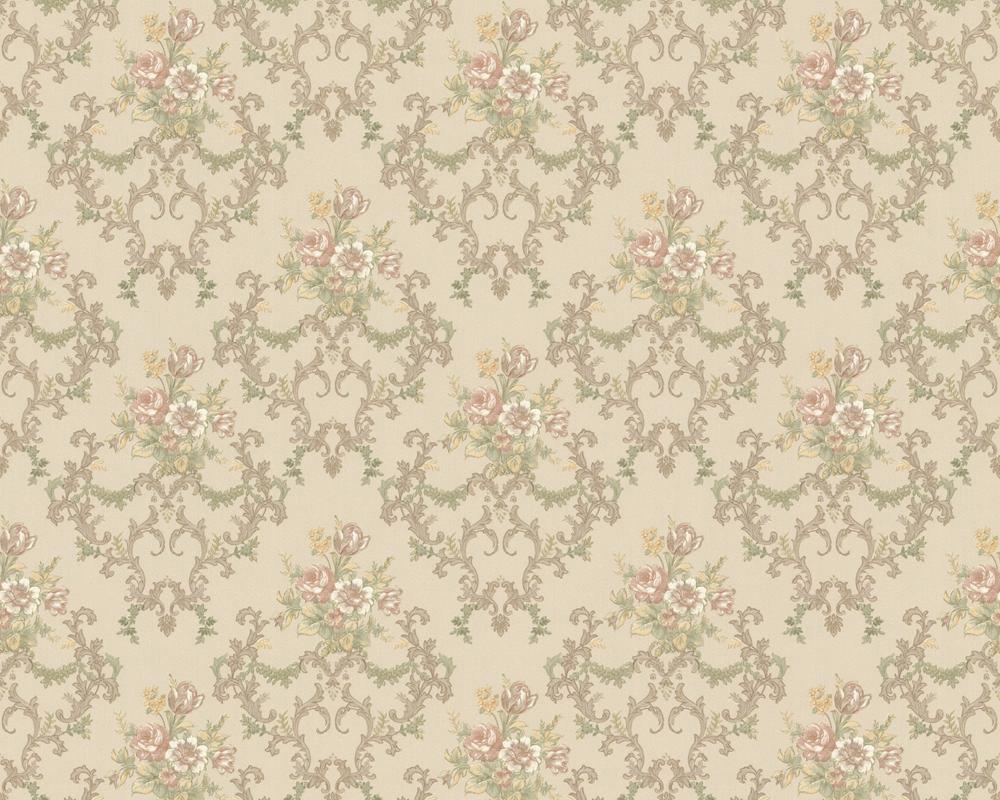 Tapeten Beige Mit Blumen : Details zu Chateau II 6481-36 Barock Ornament Tapete Blumen beige