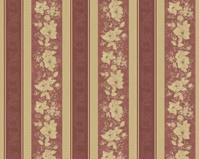 chateau ii 7335 73 klassik barock tapete blumen rot ebay. Black Bedroom Furniture Sets. Home Design Ideas