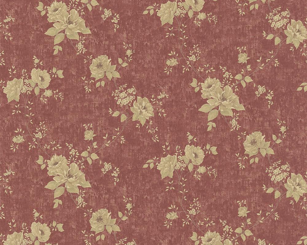 chateau ii 7336 72 klassik barock tapete rot blumen ebay. Black Bedroom Furniture Sets. Home Design Ideas