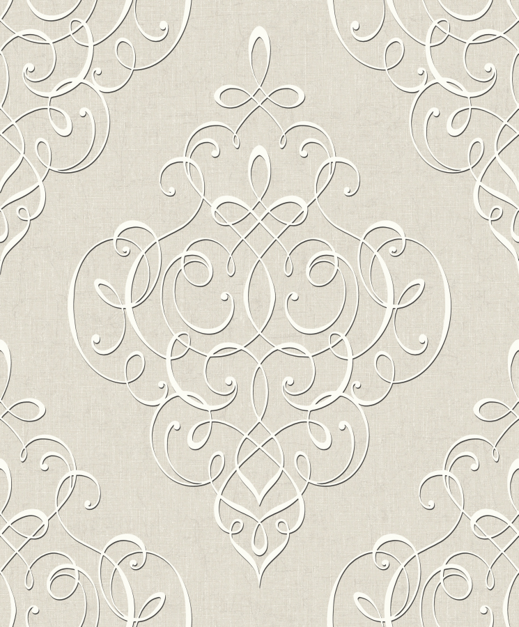 hidden richness 227332 tapete vlies barock ornament grau-beige ... - Tapete Grau Beige