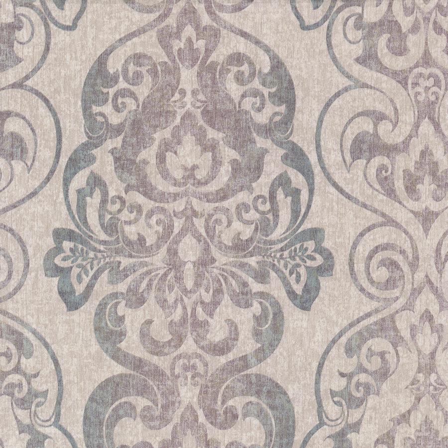 antique 02301 10 vlies tapete barock ornament beige lila t rkis 1 87 m ebay. Black Bedroom Furniture Sets. Home Design Ideas