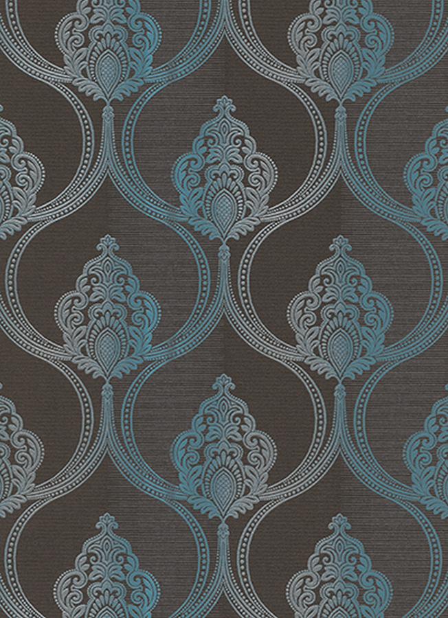 serail 6803 18 tapete vlies ornament barock braun t rkis silber 1 54 m ebay. Black Bedroom Furniture Sets. Home Design Ideas