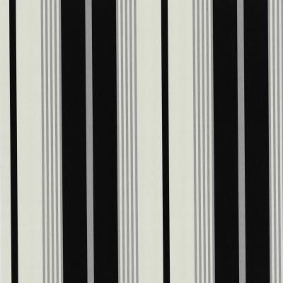 42058 10 tapete vlies uni streifen schwarz wei silber ebay for Tapete schwarz silber