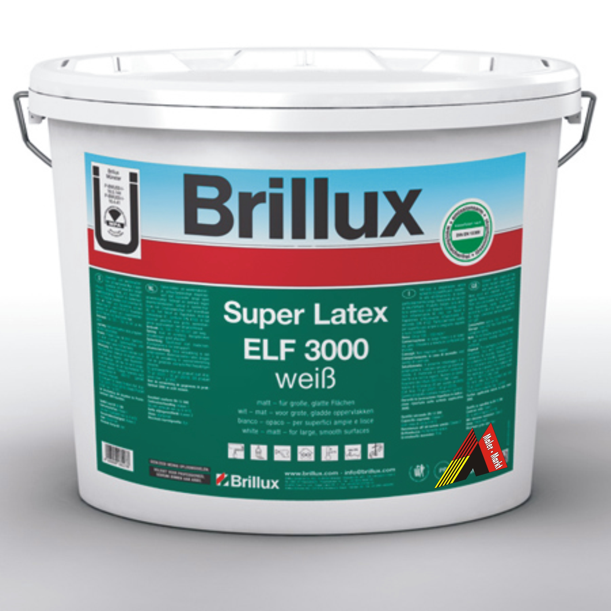 brillux super latex elf 3000 10 litre euro per litre. Black Bedroom Furniture Sets. Home Design Ideas