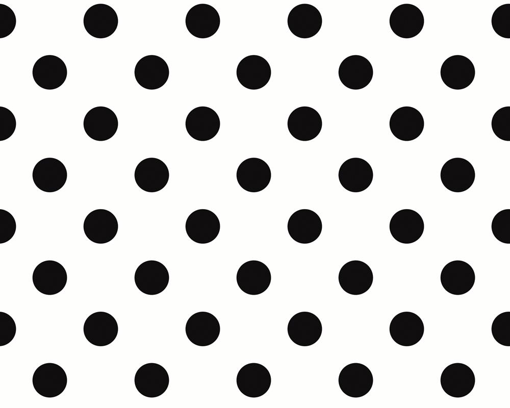 2252 14 tapete punkte retro schwarz wei vlies ebay. Black Bedroom Furniture Sets. Home Design Ideas