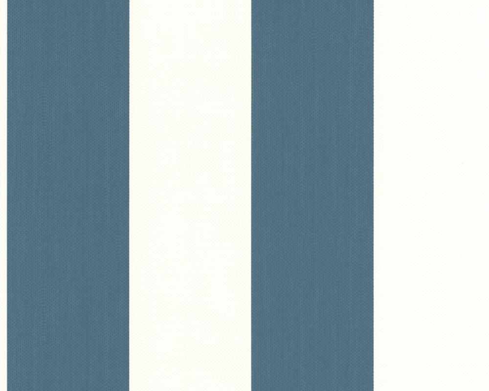 A s sunny side 2150 31 tapete vlies streifen gestreift - Tapete gestreift blau ...
