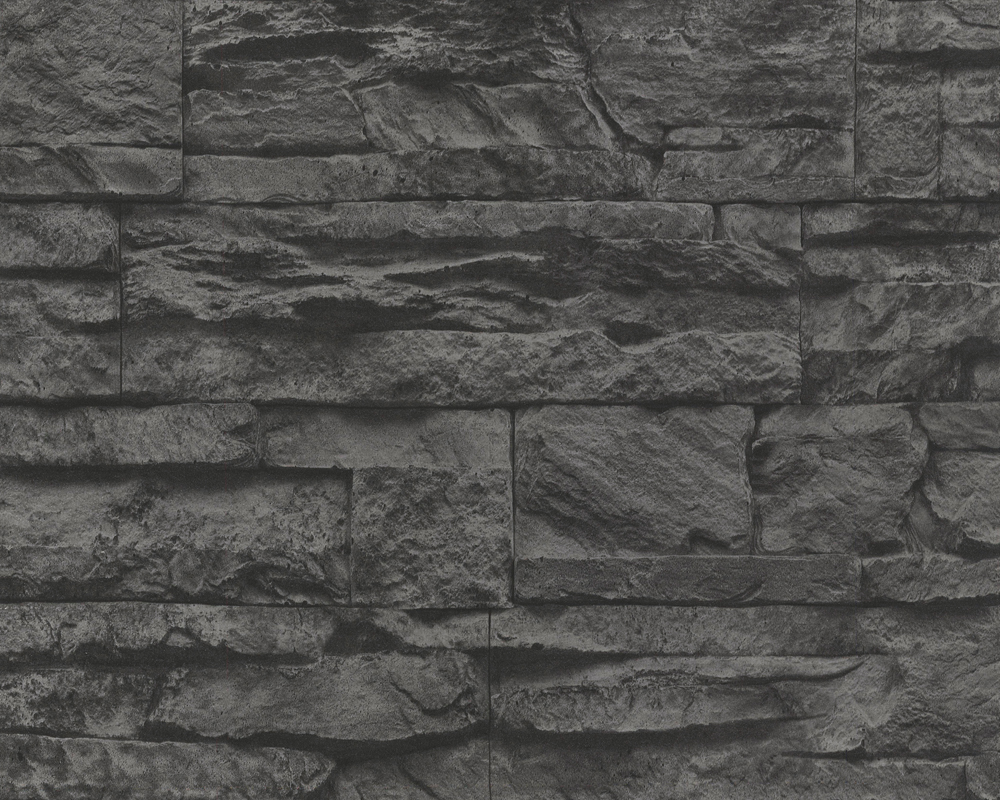 Arte Tapeten Deutschland : Dark Grey Brick