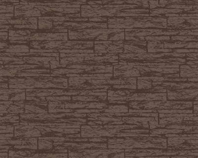 2138 22 k che tapete stein optik braun ebay. Black Bedroom Furniture Sets. Home Design Ideas