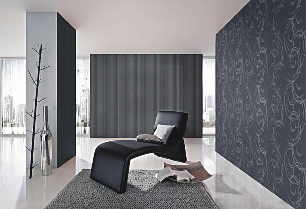 barbara becker 2014 768824 tapete streifen vlies schwarz. Black Bedroom Furniture Sets. Home Design Ideas