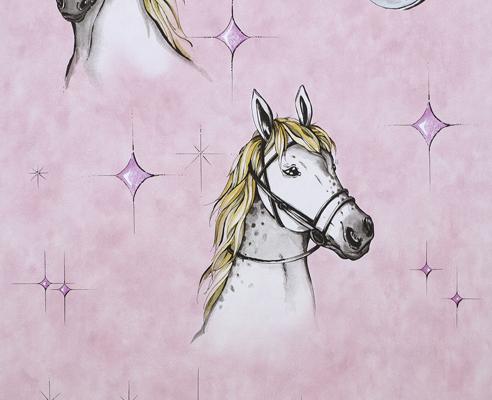 Wonderland 7280 05 tapete pferd kinder kinderzimmer ebay - Pferde kinderzimmer ...