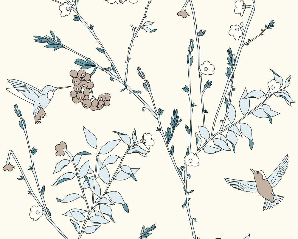 a s jette joop 2358 24 tapete vlies floral blume gebl mt beige blau wei neu ebay. Black Bedroom Furniture Sets. Home Design Ideas