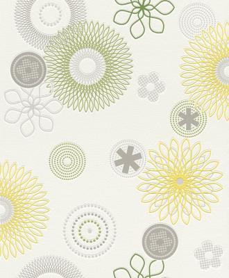Rasch Tapeten All In One 790221 Neu Vlies Floral Blume Grun Gelb
