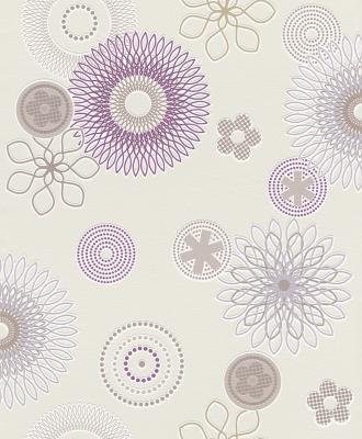 Rasch tapeten all in one 790214 neu vlies floral blume for Tapeten in lila