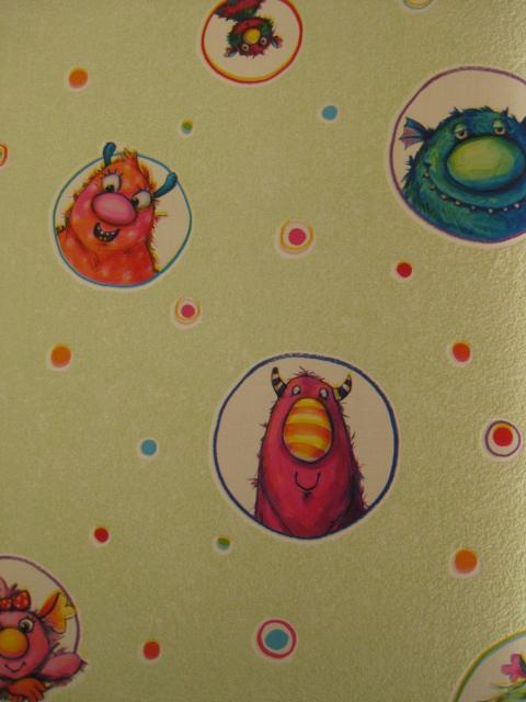 Muster Tapete Um Fenster Kleben : Rasch Tapete Kids Club 759242 Kinder Tapeten Monster eBay