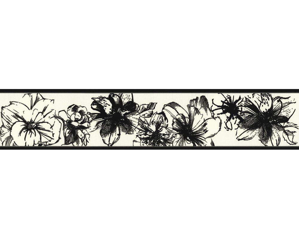 tapete esprit 7 1897 21 bord re floral blume vlies schwarz. Black Bedroom Furniture Sets. Home Design Ideas