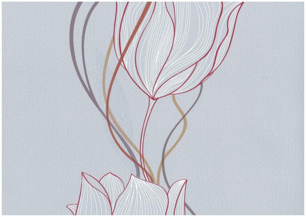rasch tapete seduction 796520 vlies neu floral blume grau rot orange braun ebay. Black Bedroom Furniture Sets. Home Design Ideas