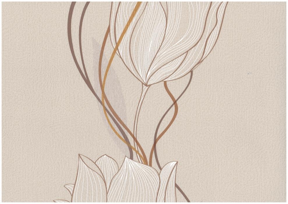 Rasch tapete seduction 2014 796544 vlies neu floral for Tapete beige braun