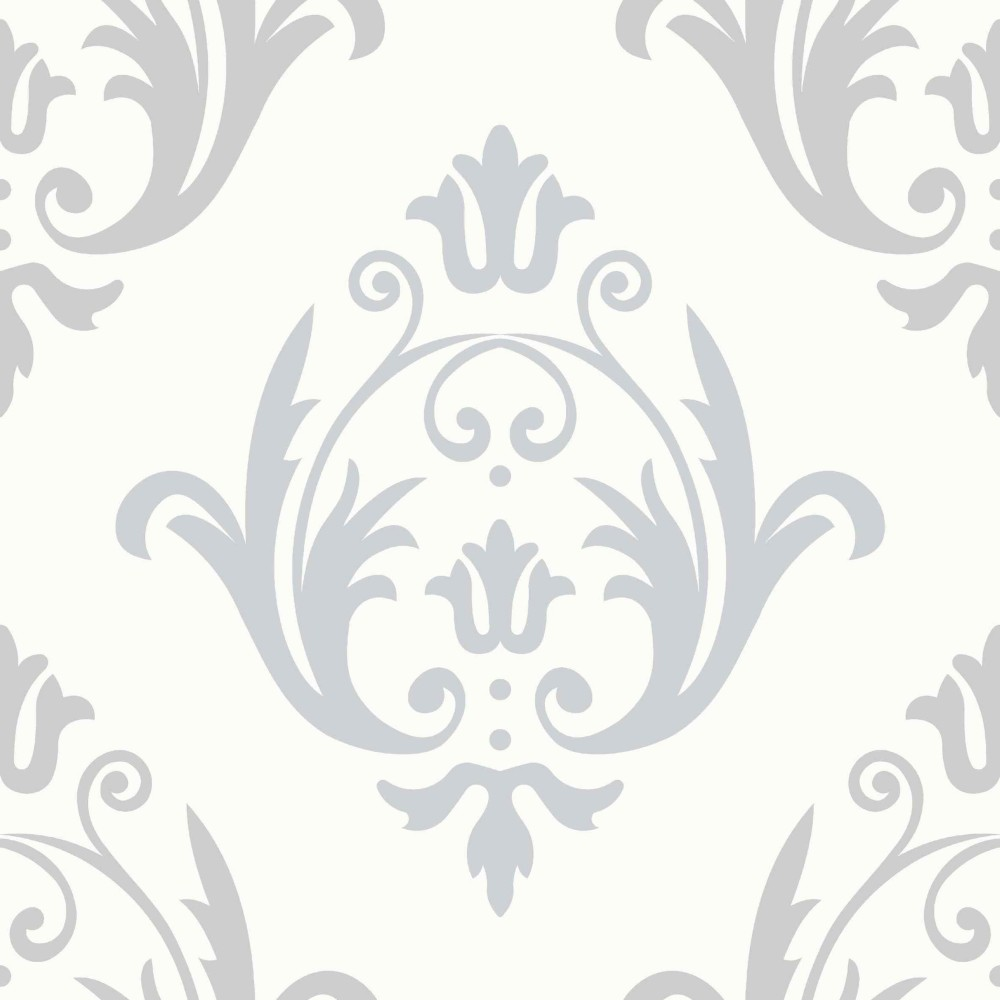 Tapete weiß ornamente  Tapeten Aurora - AO 16407 Vlies Barock Ornamente Weiß Creme Silber ...