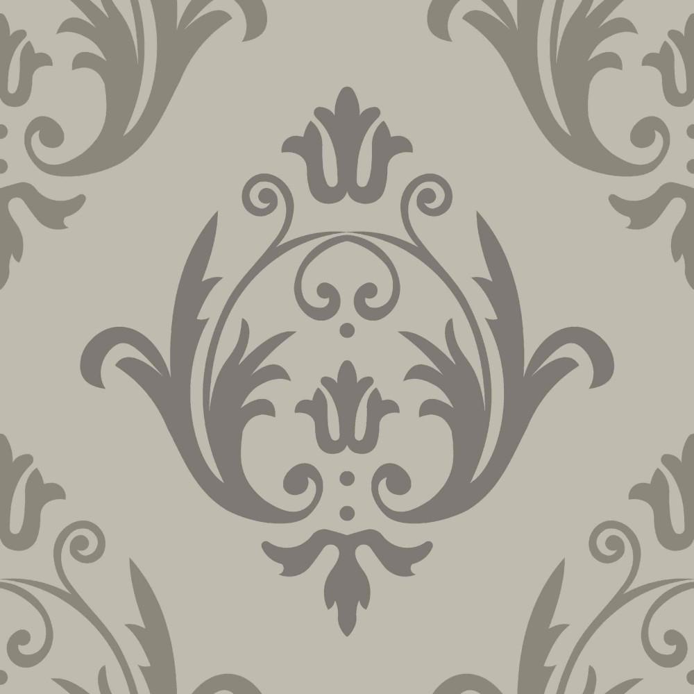 Muster Tapeten Ornamente : Grandeco Tapeten Aurora – 16402 Vlies Neu Barock Ornamente Grau Silber