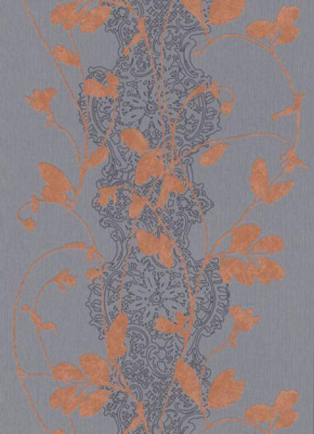 Erismann tapete sceno 5740 04 vlies neu floral blume for Tapete orange