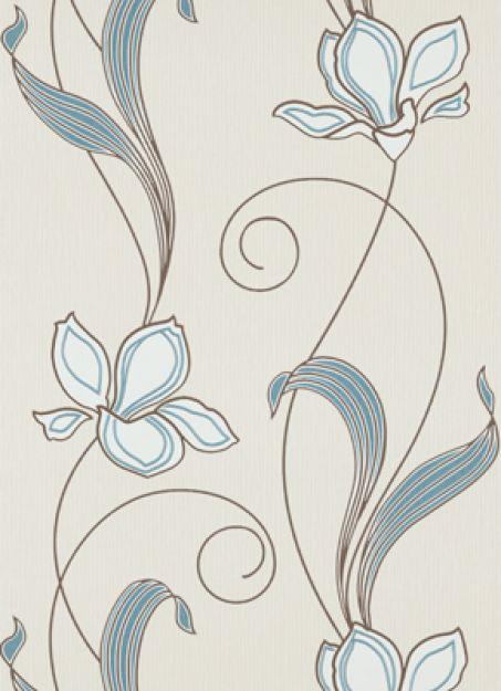 erismann tapete sceno 5742 18 vlies neu floral blume wei braun creme t rkis. Black Bedroom Furniture Sets. Home Design Ideas