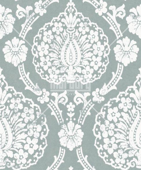 scandinavian vintage 51654 marburg tapeten vlies neu ornamente barock gr n wei ebay. Black Bedroom Furniture Sets. Home Design Ideas