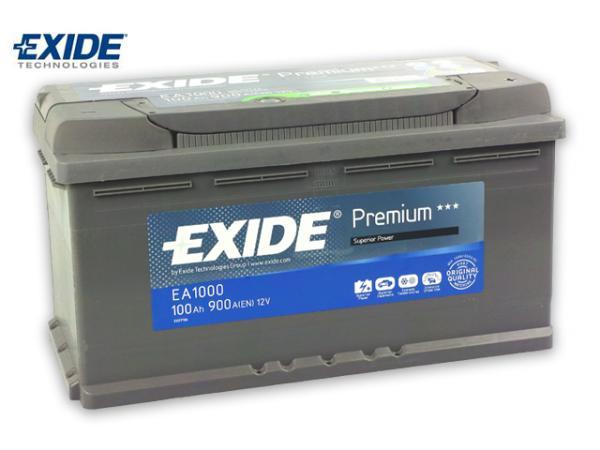 exide premium ea1000 batterie 100ah vw t4 t5 mover 12v ebay. Black Bedroom Furniture Sets. Home Design Ideas