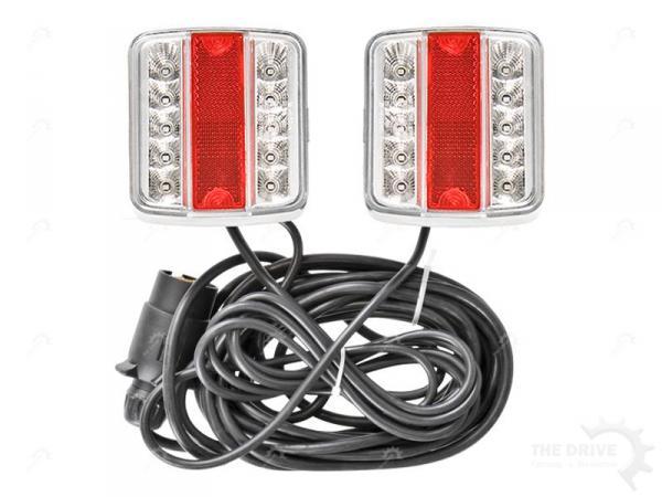 led beleuchtungsset m magneten r ckleuchte pkw anh nger beleuchtung trailer 12v ebay. Black Bedroom Furniture Sets. Home Design Ideas