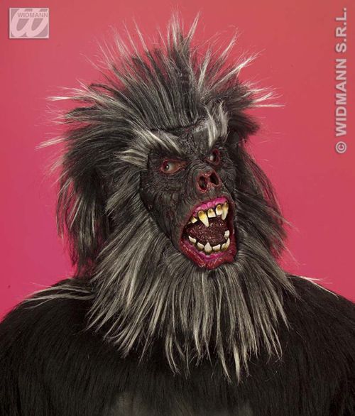 maske gorilla gruselig affe karneval fasching halloween ebay. Black Bedroom Furniture Sets. Home Design Ideas