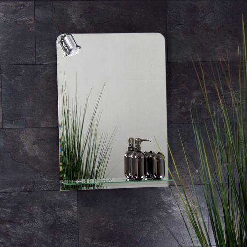 Badspiegel beleuchtet mit ablage und 70 x 50 cm badezimmerspiegel spiegel ebay - Badspiegel mit ablage ...