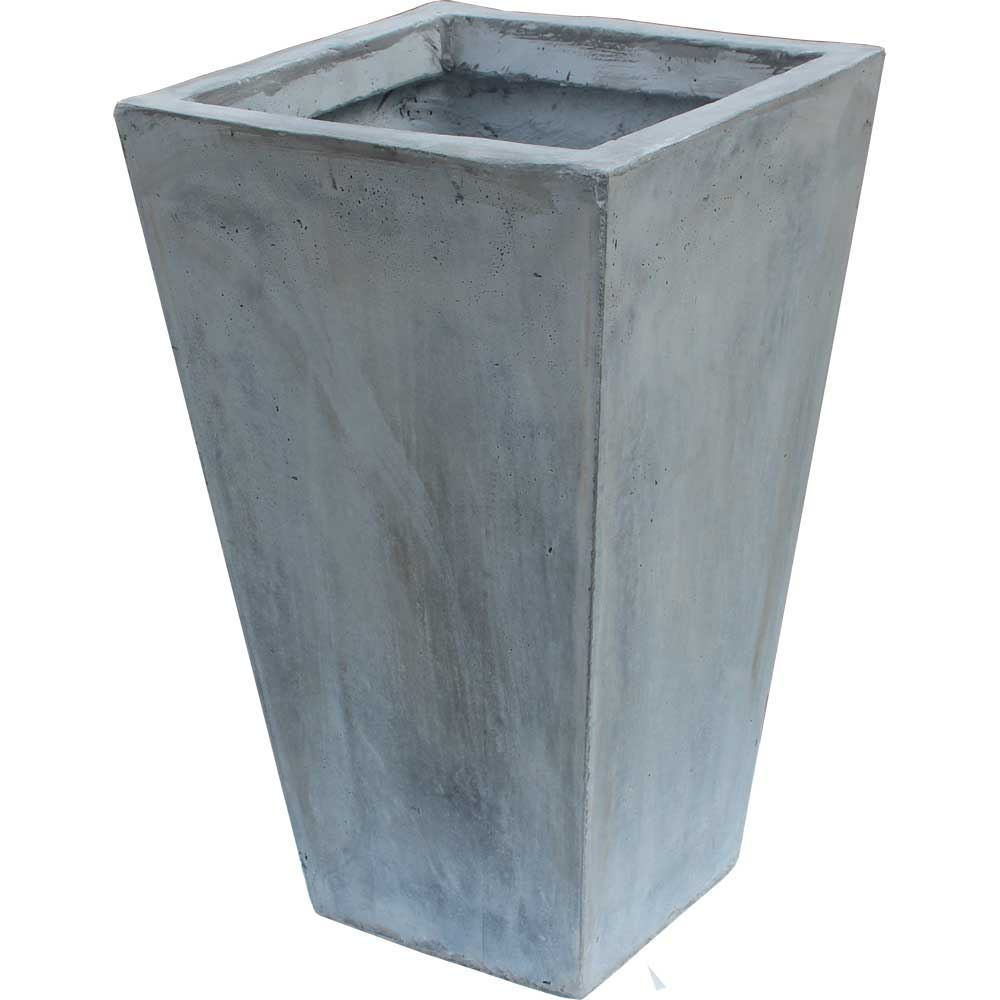 fiberglas stein beton blumenk bel konisch blumentopf vase grau 23x23x38cm b ware ebay. Black Bedroom Furniture Sets. Home Design Ideas