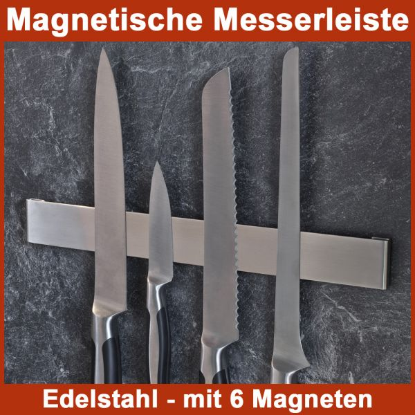 magnetische messerleiste messerhalter edelstahl magnetleiste messer halter ebay. Black Bedroom Furniture Sets. Home Design Ideas