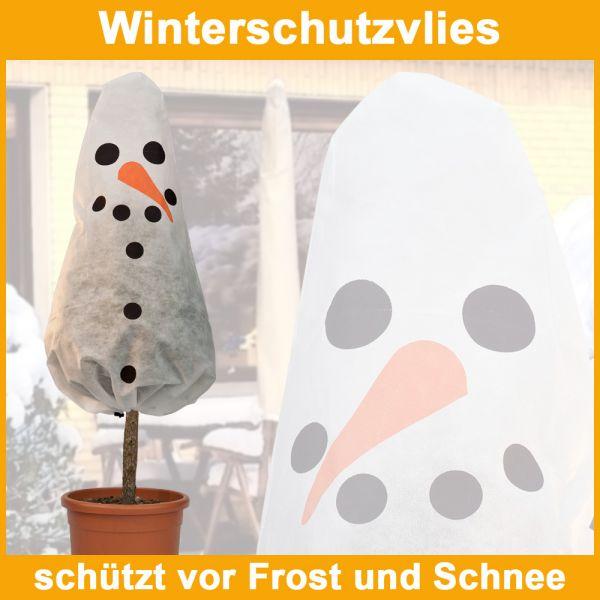 wintervlies winterschutz frostschutz f r pflanzen haube vlies motiv schneemann ebay. Black Bedroom Furniture Sets. Home Design Ideas