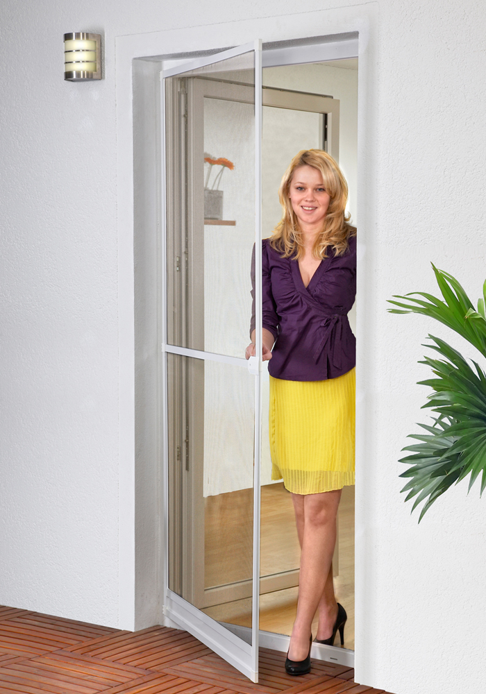 fliegengitter t r insektenschutz t r bausatz alu rahmen balkont r terrassent r ebay. Black Bedroom Furniture Sets. Home Design Ideas