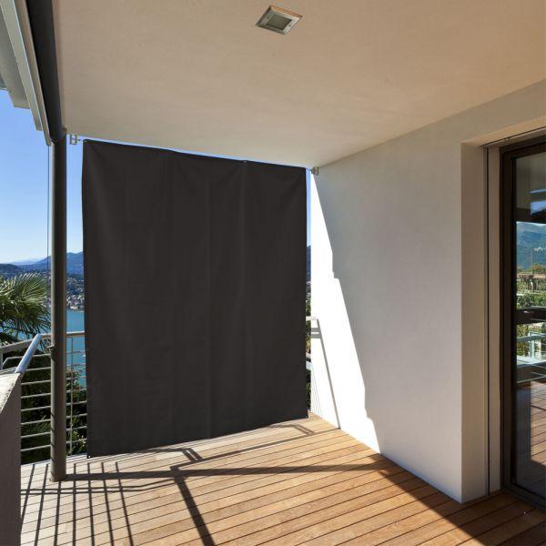 balkon sichtschutz sonneschutz vorhang seitenmarkise. Black Bedroom Furniture Sets. Home Design Ideas