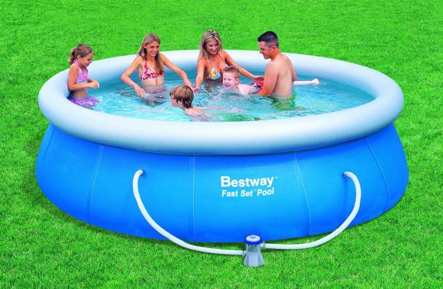 bestway pool mit filterpumpe nl 366 x 91 cm ebay. Black Bedroom Furniture Sets. Home Design Ideas